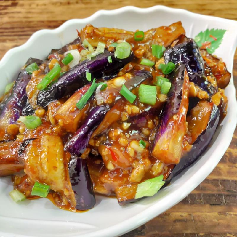 Eggplants with Chili and Garlic Sauce